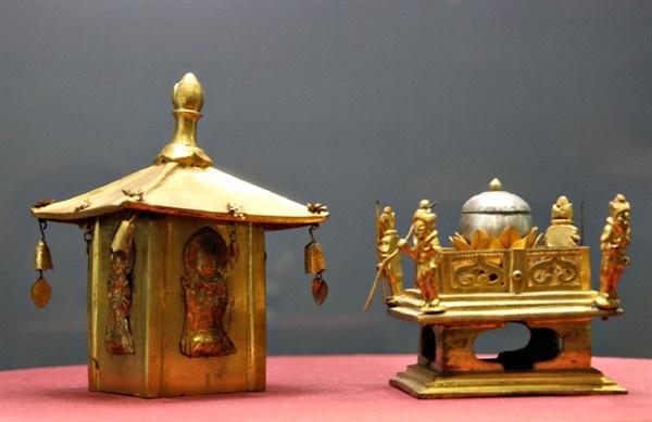 1961년 7월 해체 복원하면서 2층 탑신부 중앙에서 탑의 본질이라 할 수 있는 금동 사리갖춤이 온전한 형태로 발견되었다. 고려시대 금속공예예술의 극치를 보여주는 수작으로 평가받고 있는 사리갖춤은 국립광주박물관에 전시되어 있다