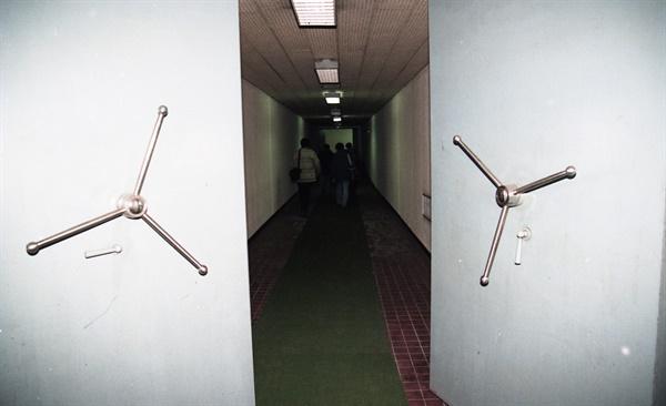 남산 국가안전기획부 청사의 시설물. 1995.12.29