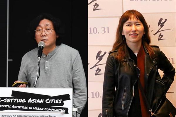 부산시네마테크에서 활동했던 김희진(감독), 양정화(프로듀서)