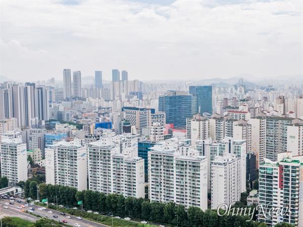 5일 오후 서울 영등포구 일대의 아파트 단지들의 모습