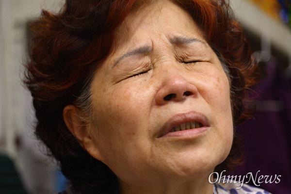 군사망피해자 고 이철구 일병의 이야기를 어머니 임승민씨는 눈물을 감추지 못했다.