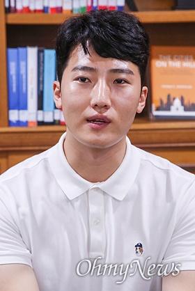 고 윤창호씨의 친구인 이영광씨.