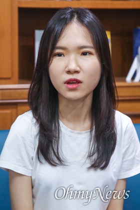 고 윤창호씨의 친구인 김민지씨.