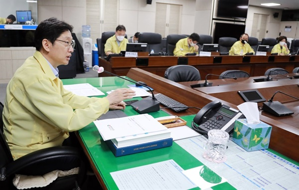 김경수 경남지사는 8월 6일 영상으로 진행된 '대한민국시도지사협의회 제46차 총회'에 함께 했다.