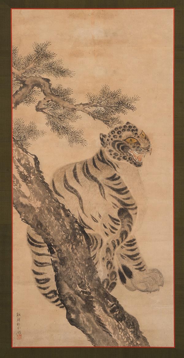 19세기 경 조선의 통신사 수행화원인 김달황의 호랑이 그림