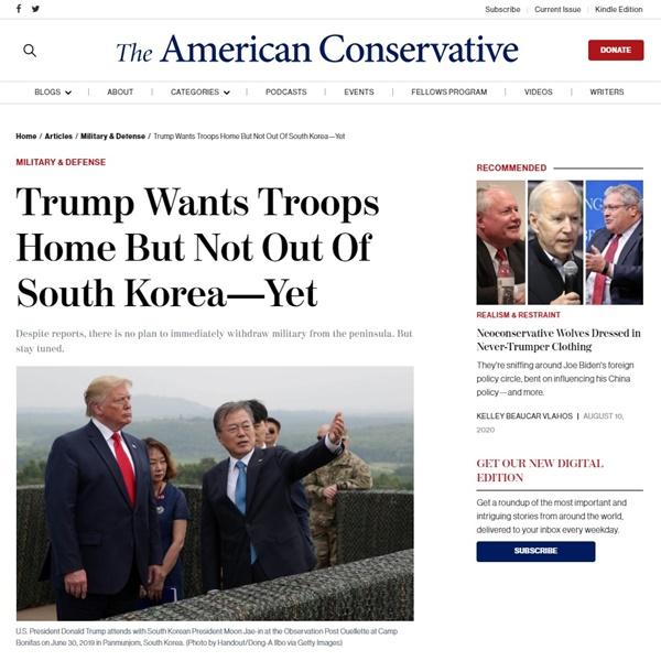 해리 카지아니스 미국 국익연구소 한국 담당의 주한 미군 감축 관련 기고문 갈무리.