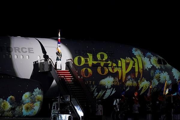 지난 6월 25일 경기도 성남 서울공항에서 열린 6.25전쟁 70주년 행사.