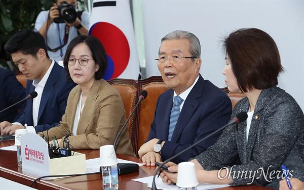 김종인 미래통합당 비상대책위원장이 13일 오전 서울 여의도 국회에서 비대위회의를 주재하고 있다.