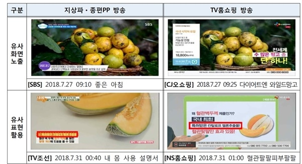 방송통신위원회 실태점검 보고서의 일부분