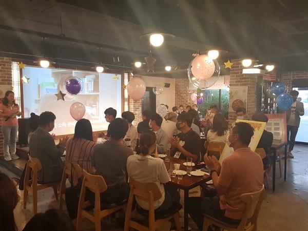 """경남 고성군은 14일 오후 고성읍내 한 장소에서 """"청년과 함께하는 공감?소통 행사""""를 열었다."""