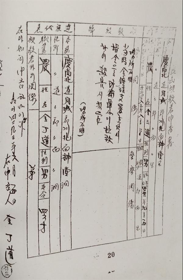 김삼도 보고서(출처: 제4대국회 양민학살 실태보고서)