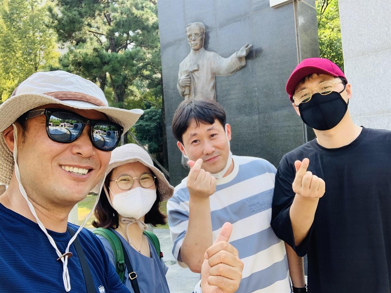 팔일오닷컴 경남 김해편 행사 마무리 한 후 선생님들 한컷