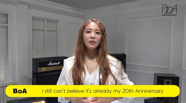 데뷔 20주년을 맞이한 보아의 감사 메시지