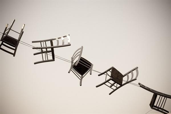 앉을 수 없는 의자