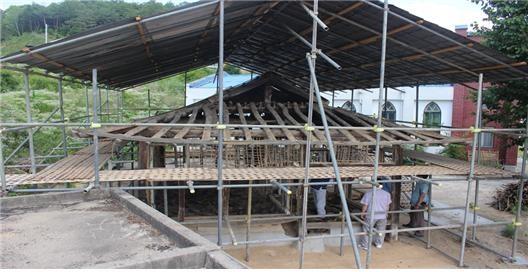 한국기독교 사적11호 내명학교 이건작업