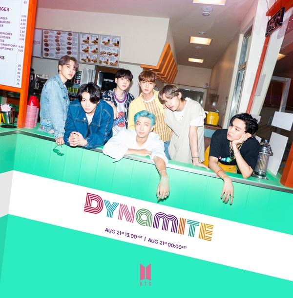 방탄소년단 '다이너마이트' 티저 사진.