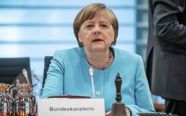 지난 6월 3일 주간 내각회의에 참석한 앙겔라 메르켈 독일 총리.