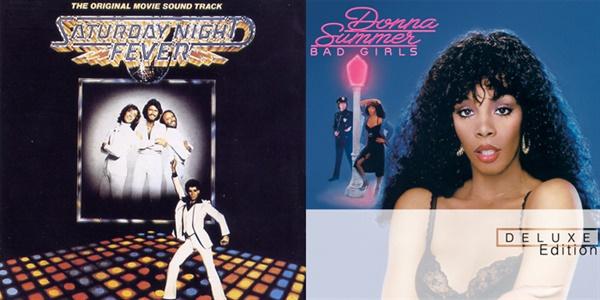 1970년대 디스코 붐을 주도했던 비지스의 'Saturday Night Fever' OST, 도마 섬머의 'Bad Girls' 표지