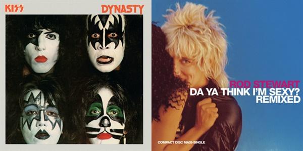 그룹 키스(왼쪽), 로드 스튜워트 등 록 가수들도 디스코 음악을 할 만큼 1970년대 디스코는 최고의 인기 장르였다.