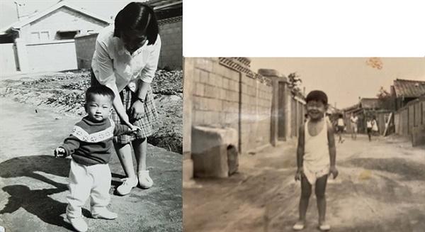 수유리의 골목 1960년대 후반 수유리 골목의 모습. 오른쪽 사진은 당시 근처에 살았던 친구다.