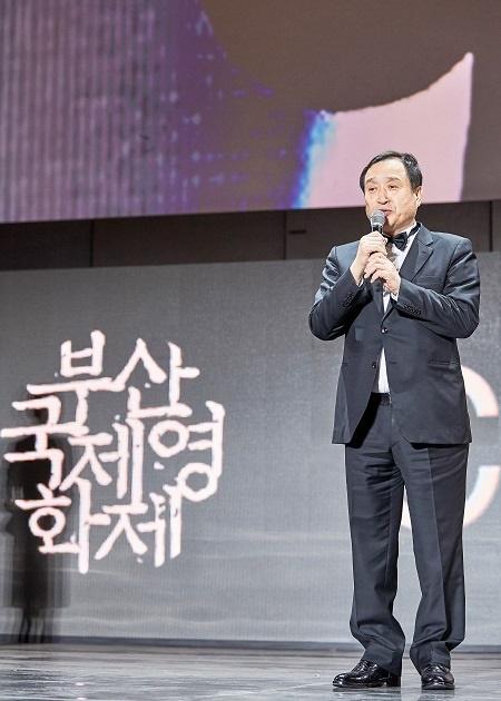 2019년 부산영화제 페막식.전양준 집행위원장