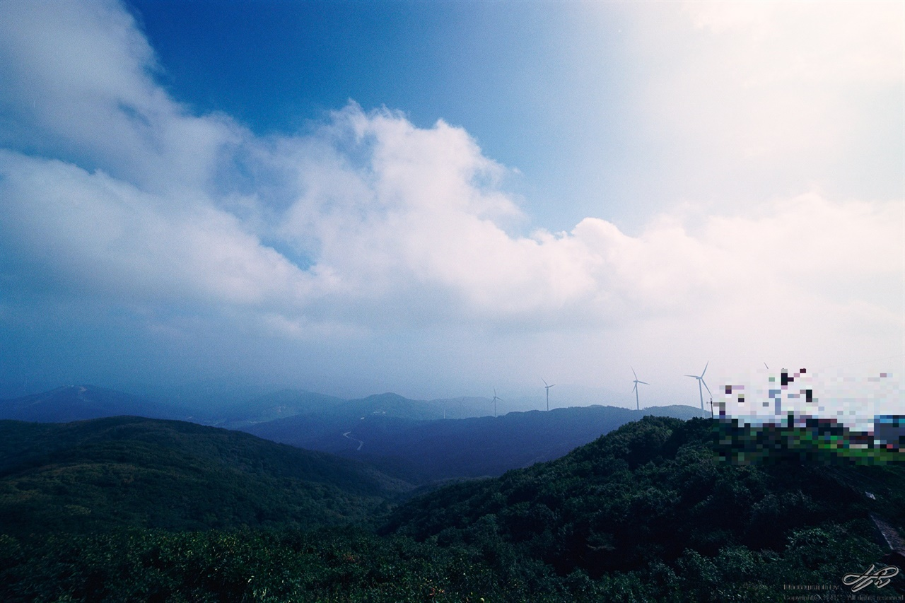 정상이나 다름없는 곳 (Ektar100)숲을 벗어나 머리 위가 허공이 되니 정상이 가깝다.