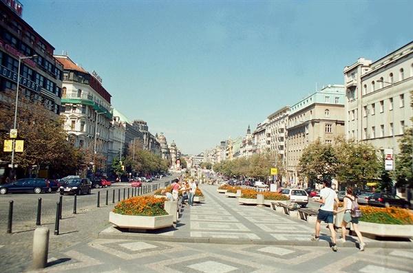 '프라하의 봄'이 진행되었던 프라하 중심 거리