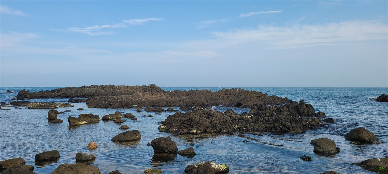 주상절리   여러 가지 생김새의 주상절리가 경주 양남에서 울산 강동에 이르는 바닷가에 모여 있다.