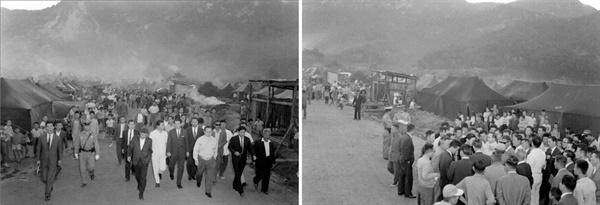 우이천 인근 수해지역 시찰(1966) 우이천 인근은 수해가 잦았다. 그때마다 고위층들이 시찰을 왔지만 수해 복구는 늦어지기만 했다.