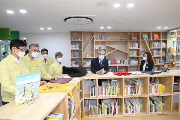경상남도교육청은 9월 24일 오후 합천군 가야면 옛 숭산초등학교에서 '가야산독서당 숲속책방(정글북) 개관식'을 열었다.