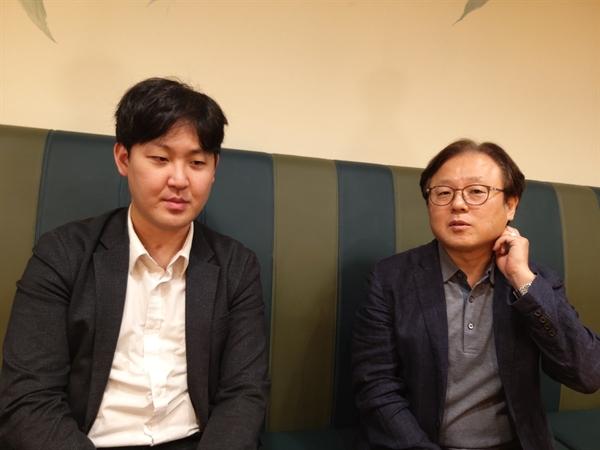 좌 김승남 교수, 우 김현종 학과장
