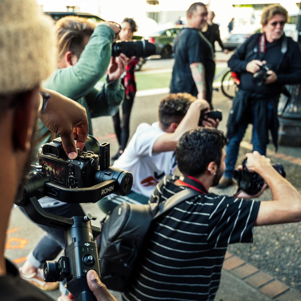 기자들의 모습.