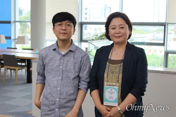 어머니 허은서씨와 그의 아들 조한결 학생