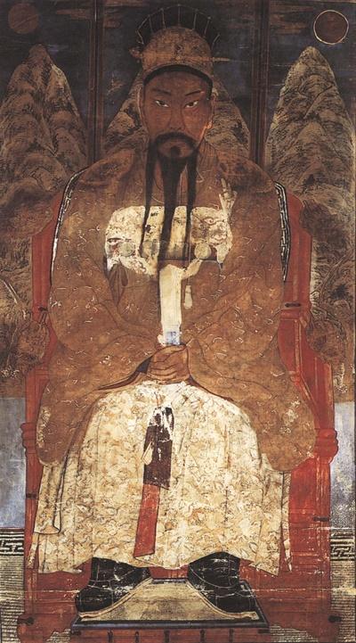조선 후기의 초상화가 채용신이 그린 단군.