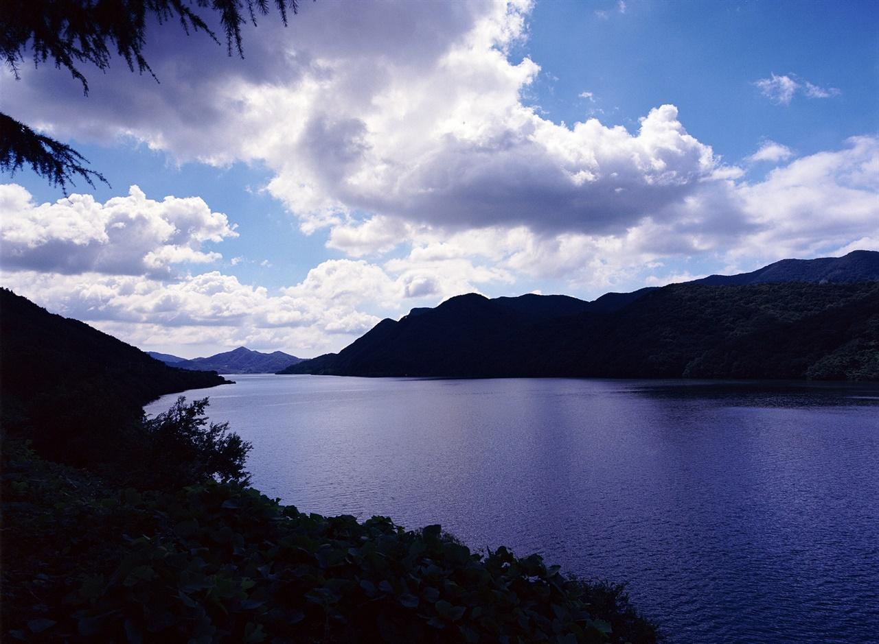 호수와 하늘 (645N/Ektar100) 공기의 질이 최고인 날이었다. 햇빛이 강해서 그늘진 곳은 까맣게 실루엣으로 밖에 표현되지 않을 정도였다.