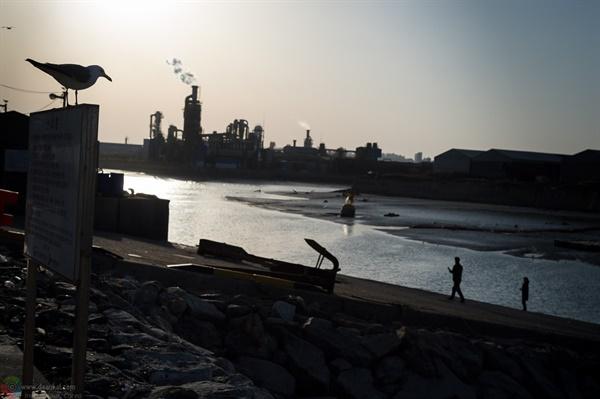 사진적 피사체가 되는 북성포구 역광으로 담아 운치가 있는 북성포구.