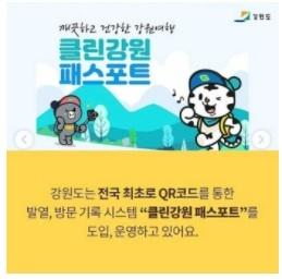 '클린강원 패스포트' 포스터 [출처=강원도청]