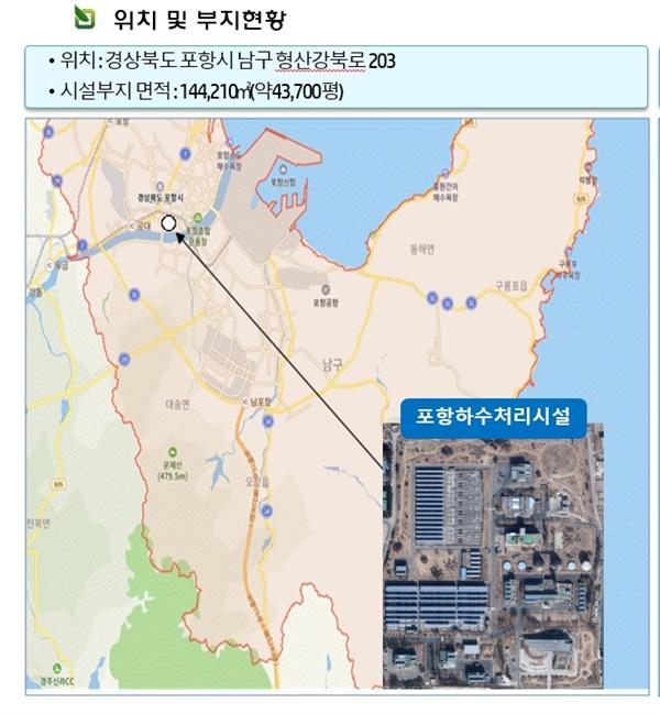 포항하수처리장 부지현황(출처: 한국환경공단)