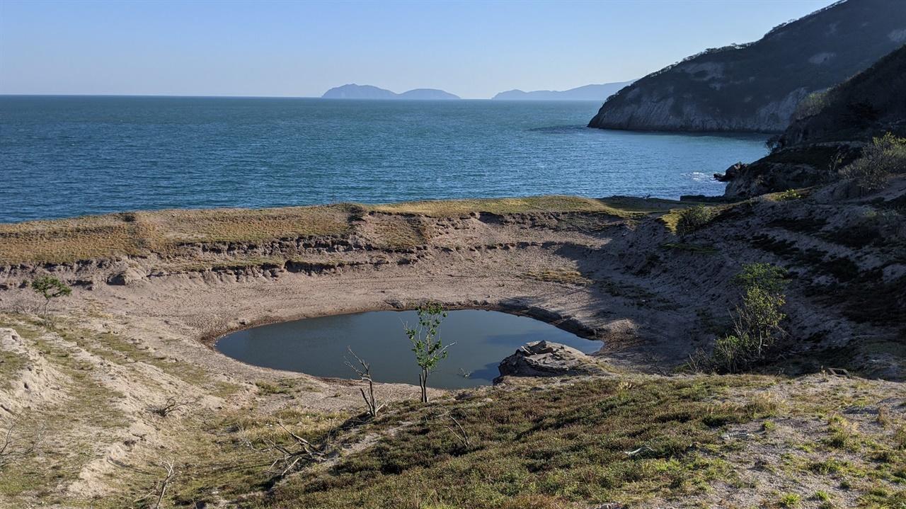 사구습지 사구습지의 물은 예전 농업용수로 사용했으나 지금은 미꾸라지의 서식지이며 흑염소와 사슴의 식수원이 되었다
