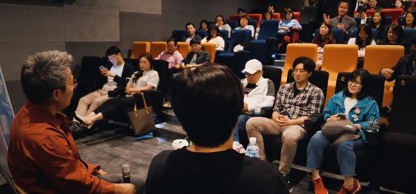 2019년 부산영화제 커뮤니티비프 관객과의 대화 모습