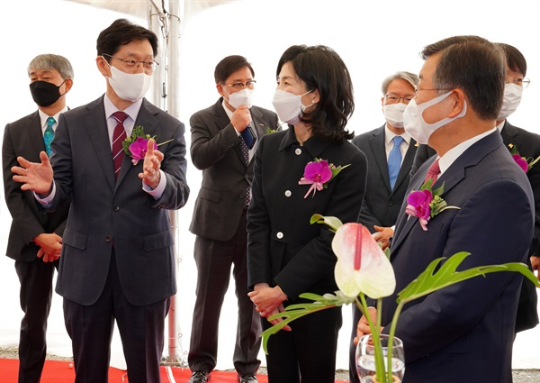 10월 19일 밀양나노융합국가산단에서 열린 삼양식품 신공장 착공식.
