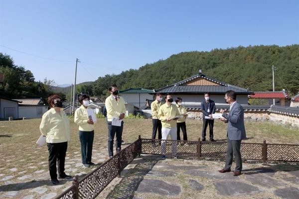 진주시의회 기획문화위원회의 현장 점검.