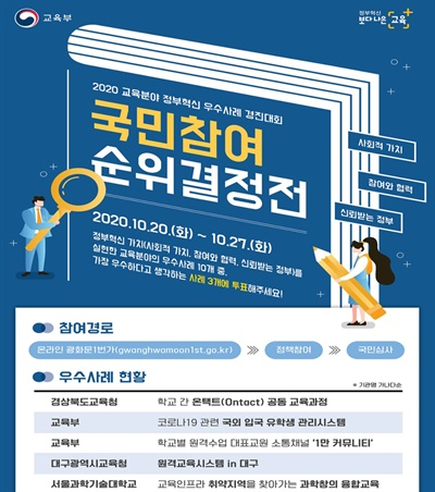 교육부 경진대회 포스터.