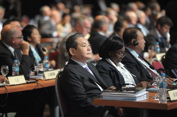 2013년 9월 9일 제125차 IOC총회에 참석한 이건희 회장.