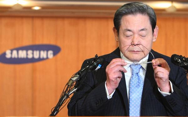 2008년 삼성그룹 경영쇄신안 발표하는 이건희 삼성그룹 회장.