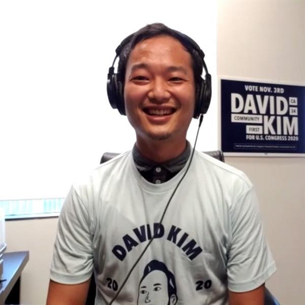 미국 연방 하원의원 선거에 출마한 데이비드 김 후보.