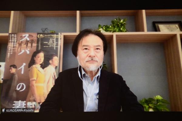 26일 오후 온라인으로 진행된 부산국제영화제 초청작 <스파이의 아내> 기자간담회 현장.