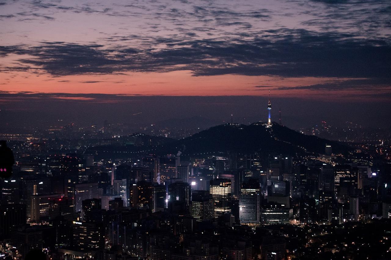 서울 전경 사진