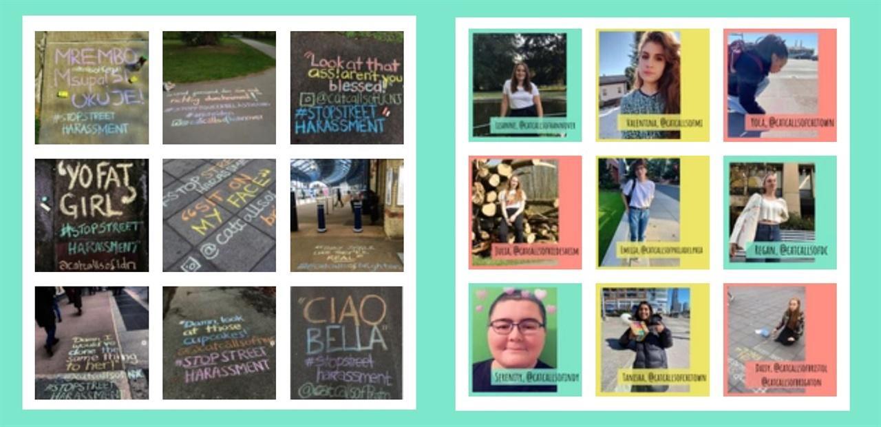 초크 백 웹사이트에서는 전 세계 캠페인 참여자가 만든 인스타그램 계정과 사진을 소개한다.