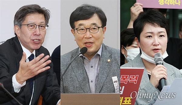 왼쪽부터 박형준 전 미래통합당 선대위원장, 서병수 국회의원, 이언주 전 국회의원.